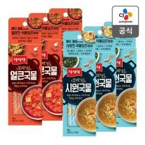 [CJ직배송] 다시다 요리의신 시원국물 50g X3개+얼큰국물 50g X3개