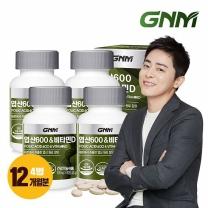 GNM자연의품격 엽산600&비타민D 4병 (총 12개월분)