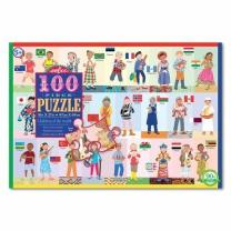 [바보사랑]어린이퍼즐 이부 전세계 어린이들 100피스