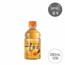 웅진 꿀홍삼 280ml x 12페트 (온장겸용페트)