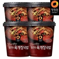 청정원 갓지은밥맛! 얼큰한육개장국밥 91gx4개
