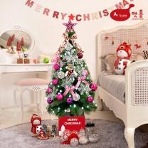 앳홈 핑크리본 크리스마스 트리 / 1m 솔트리