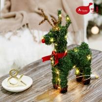 앳홈 리본 크리스마스 사슴 트리 / 30cm