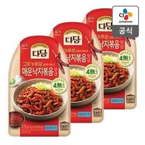 [CJ직배송] 다담 매운낙지볶음양념130G X3개
