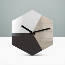 [바보사랑]리플렉스 모던우드 헥사곤 무소음벽시계 HEX43A
