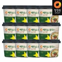 청정원 베트남쌀국수 소고기맛 75.4gx12개
