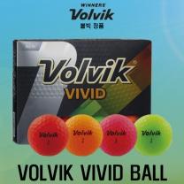 볼빅 VIVID(비비드) 세계 최초 무반사 코팅 골프볼 [3피스/12알][4color혼합]