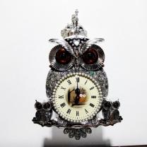 [바보사랑]자개부엉이양면시계(실버브라운) (28)