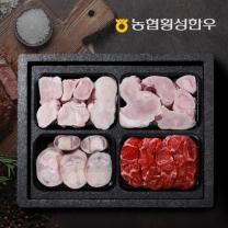 [농협횡성한우] 어사품 1등급 보신정육세트 사골2팩+우족1팩+사태팩 2.7kg