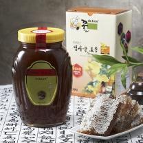 [지리산뱀사골토종꿀] 자연산 야생화꿀 (병) 2.4kg