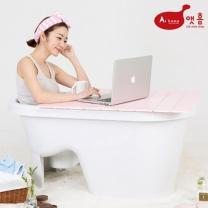 앳홈 프리미엄 이동식 의자형 반식욕조 4종세트(욕조,마개,샤워걸이,덮개)
