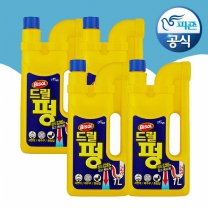 [피죤공식] 드릴펑 배수관세척제 1000ml 4개