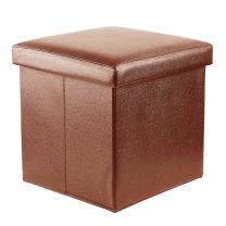 접이식 스툴 겸 수납의자(다크브라운)/리빙박스 의자