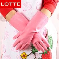 롯데 이라이프 고무장갑 주방장갑(핑크) (중형) / 식당납품