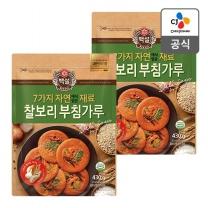 [CJ직배송] 자연재료 찰보리부침가루 430g X2개
