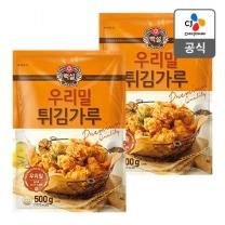 [CJ직배송] 우리밀 튀김가루 500g X2개