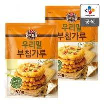 [CJ직배송] 우리밀 부침가루 500g X2개