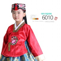 [예화-좋은아이들] 名品 여아 아동한복 국화단홍색 6010 (당의 + 원피스치마)/여아한