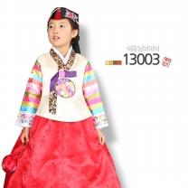 [예화-좋은아이들] 名品 여아 아동한복 색동당의아이_ 13003 (당의 + 원피스형치마)/