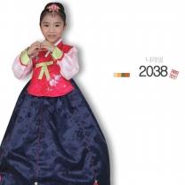 [예화_좋은아이들] 名品 아동한복 여아_ 2038 나라빛 (당의+치마)/여아한복