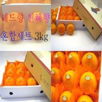 (인빌푸드)로하스 레드향+천혜향세트 3kg(9-13과)