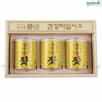(인빌푸드)섬배마을 솔방울잣(선물용)420g(140gx3캔)