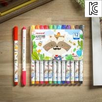 모나미 모니주 사인펜 12색세트/마킹펜 수성싸인펜