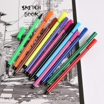 컬러라인 12색 사인펜세트/미술준비물 어린이 싸인펜