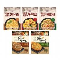 [롯데푸드] 초가삼간 전5종세트(해물파전,감자채전,동태전,녹두빈대떡,고기지짐)
