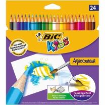[129625]아쿠아 수채색연필(24색/BIC)