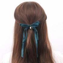 [바보사랑]벨벳 머리끈 헤어슈슈 (바이올렛/그린)