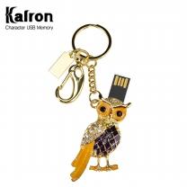 칼론 메탈 부엉이 캐릭터 USB 메모리 4G