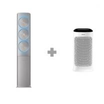 [하이마트] [스탠드 에어컨+공기청정기 패키지] AF25N9970MFH1 (81.8㎡) 기본설치비 무료