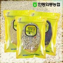 [안동와룡농협] 영양만점 혼합 잡곡 3kg 5호 (찰보리쌀+혼합15곡+찰흑미)