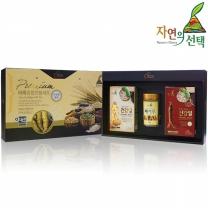 [자연의선택] 건강밀선물세트 1호 800g (인삼건강밀300g+홍삼건강밀300g+마가루200g)