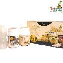[자연의선택] 마죽종합선물세트 2호 1.2kg (검은콩마죽600g+15곡참마밀600g+쉐이크컵)