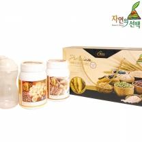 [자연의선택] 마죽종합선물세트 1호 1.2kg (버섯더덕마죽600g+은행마죽600g+쉐이크컵)