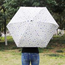 [바보사랑]하트방울 양산겸용 우산/자외선차단 수동우산 5단우산