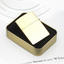 [바보사랑]심플 유광 메탈 라이터/선물 오일라이타 담배라이터