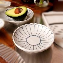 [바보사랑]일본그릇_마미에 데이지 접시 반찬접시 앞접시 디저트접시