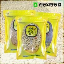 [안동와룡농협] 영양만점 혼합 잡곡 3kg 13호 (혼합15곡+서리태+찹쌀현미)