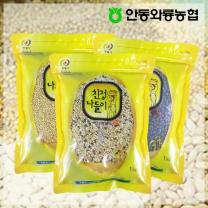 [안동와룡농협] 영양만점 혼합 잡곡 3kg 7호 (찰보리쌀+혼합15곡+서리태)