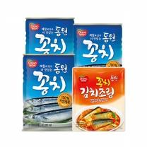 [동원]고소한 꽁치 or 고등어300gx3+꽁치 김치조림170g 파우치