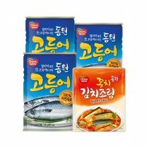 [동원]고등어400gx3+꽁치 김치조림170g 파우치