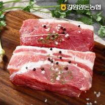 [강원양돈농협] 깊은산 맑은돼지 앞다리살 1kg (보쌈용)