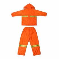 [바보사랑]오렌지 야광 안전 우의 상하세트 (XL)/작업용우의 형광우의 비옷