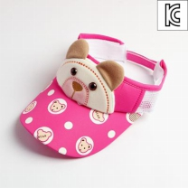 [바보사랑]리틀베어 어린이썬캡(핑크)/아동 여름모자