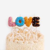 [바보사랑]스윗 러브 도넛 캔들 set