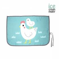 [아이스크림페어리] 3중암막 자석형 차량용햇빛가리개_닭 그린