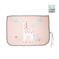 [아이스크림페어리] 3중암막 자석형 차량용햇빛가리개_기린 핑크